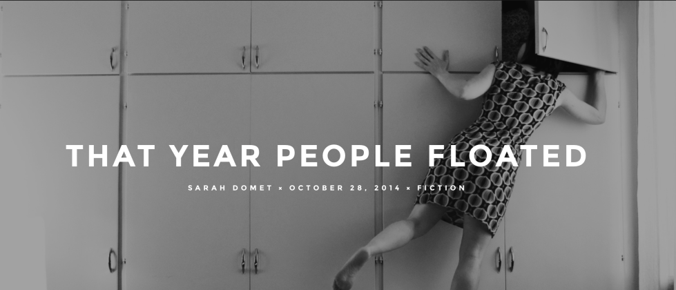 The Year People Floated, by Sarah Domet
