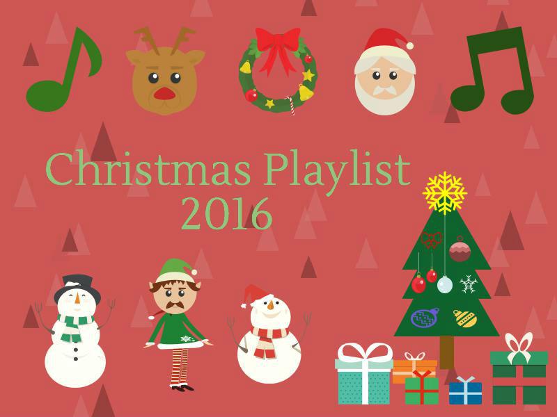 Decorative Christmas Playlist Title Slide