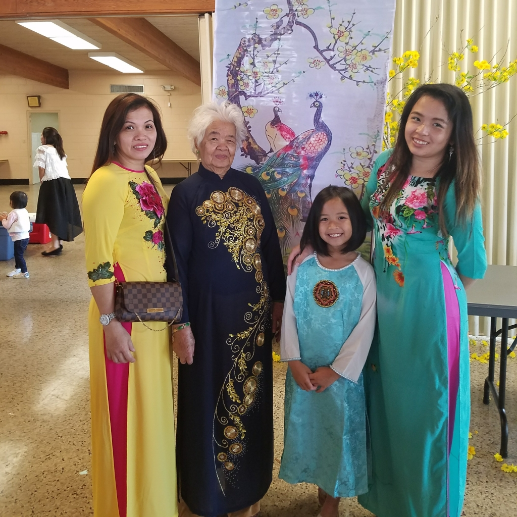 My family and I in traditional Vietnamese dresses.