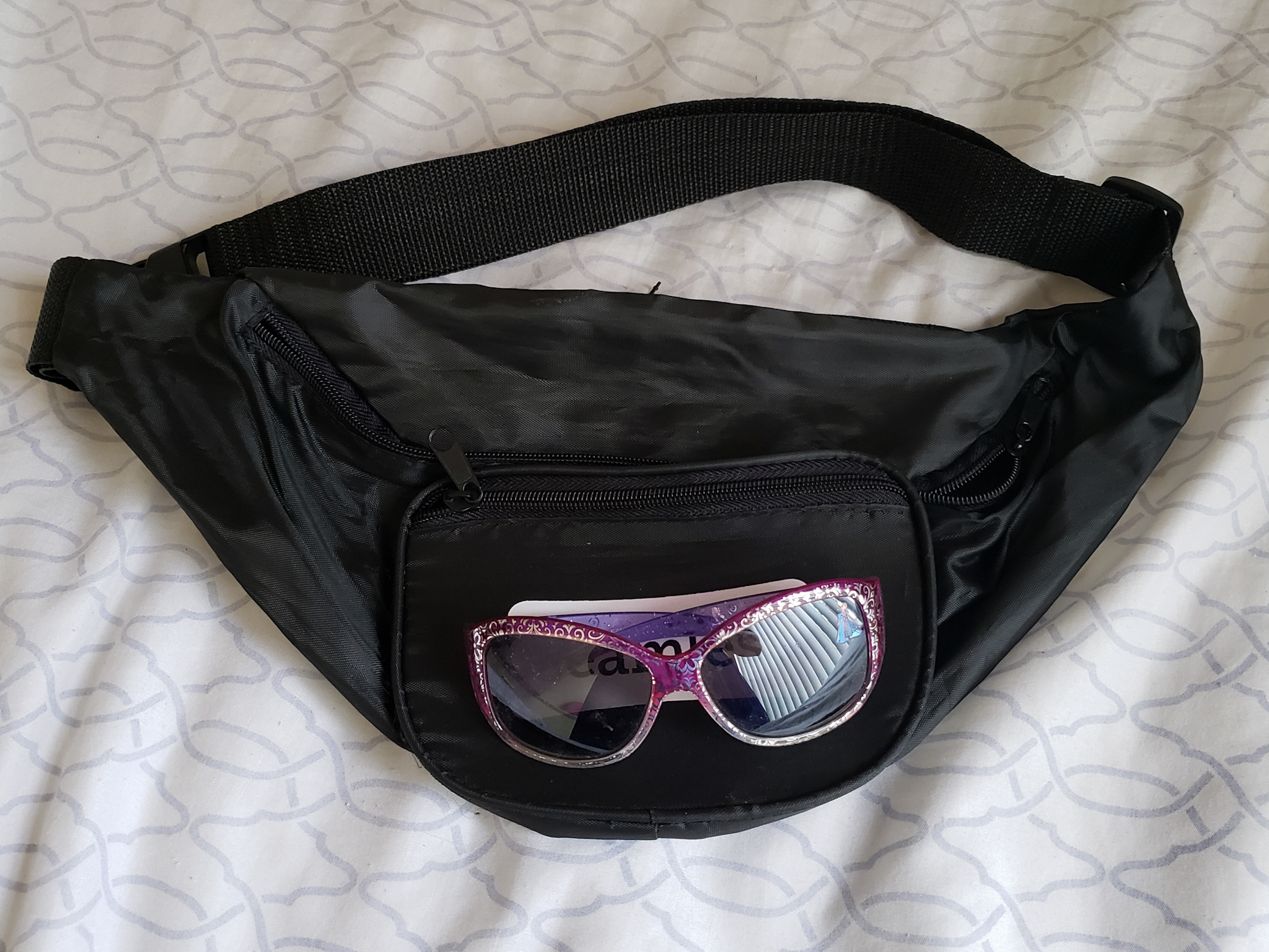 My fanny pack and a cute pair of sunglasses.