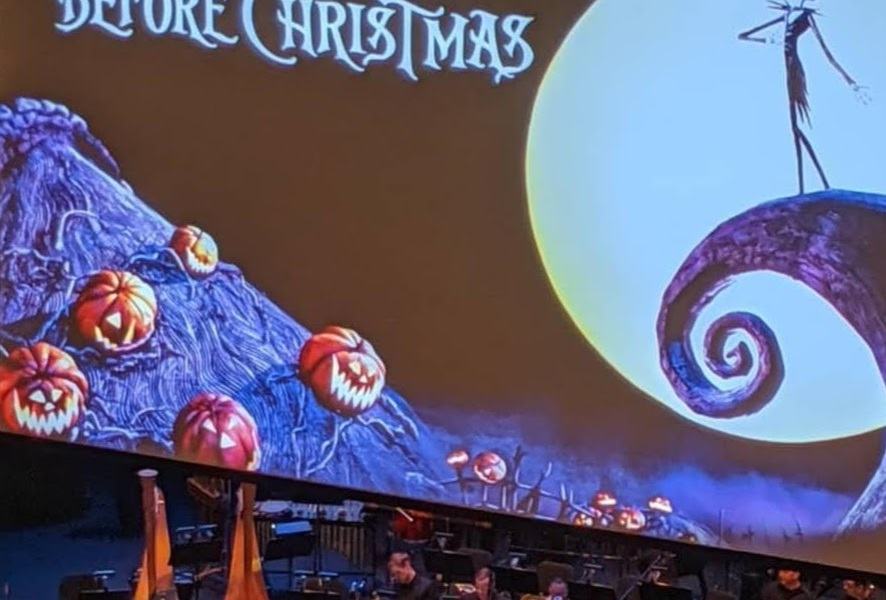 A photo from watching the orchestra version of A Nightmare Before Christmas.