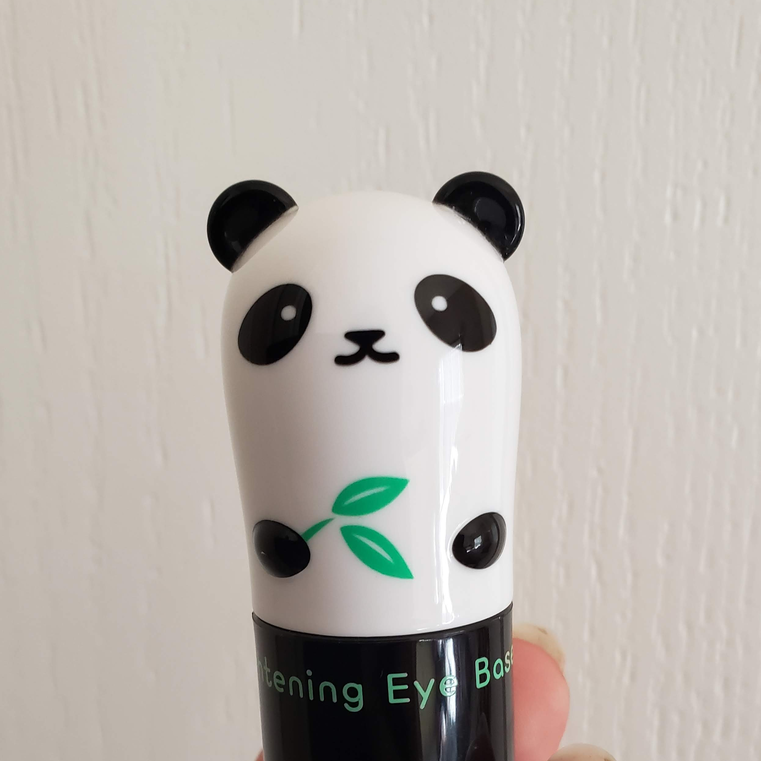 The container for the Brightening Eye Base is slightly bigger than a lipstick, and is much cuter with the panda face on it.