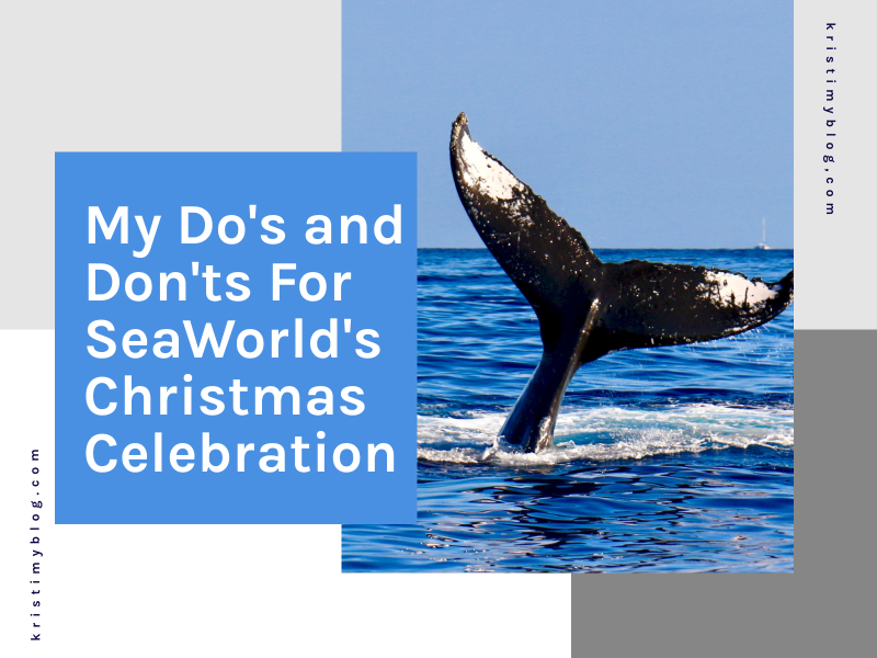Here are my do's and don'ts for SeaWorld's Christmas Celebration.