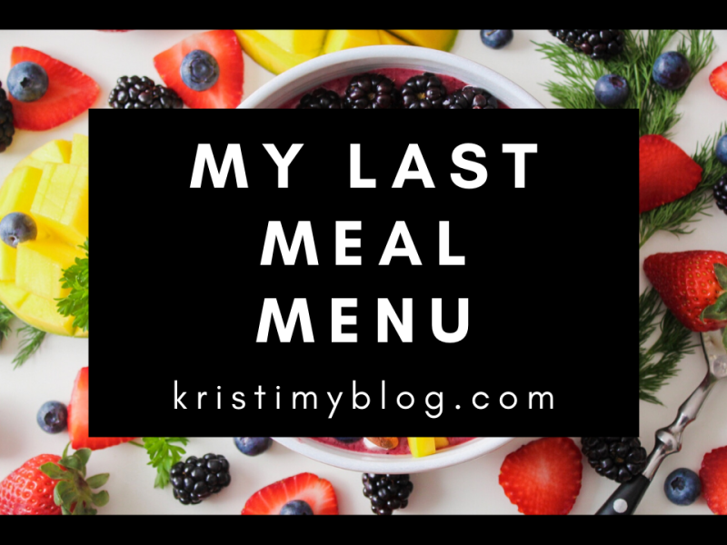 My Last Meal Header Image