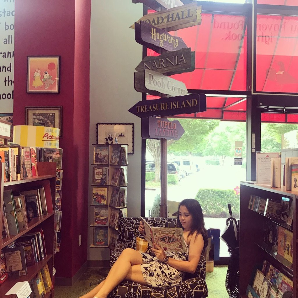 Even when I travel, one of my favorite things to do is to visit a small, independently owned bookstore. This photo is from a trip to North Carolina.