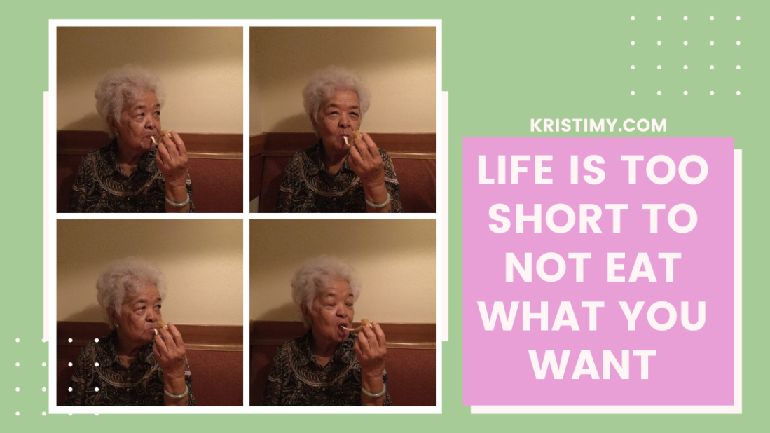Life Is Too Short to Not Eat What You Want Header Image