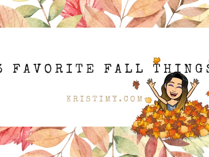 Favorite Fall Things Header Image